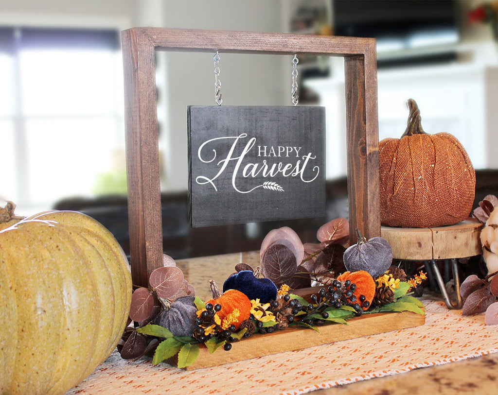 Happy Harvest Hanging Sign