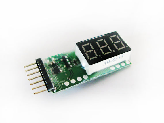 Lipo Battery Voltmeter 2-6s - Altitude Hobbies