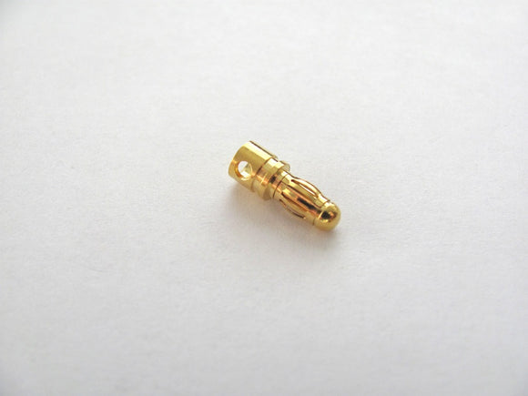 3.5mm Gold Bullet Connector (1 Plug - Male Only)
