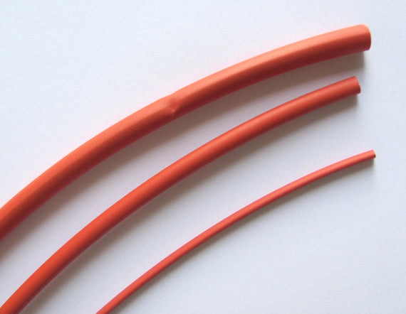 "4mm Heat Shrink Tubing - 12"" Red"
