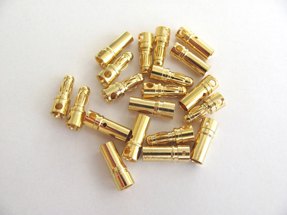 3.5mm Gold Bullet Connectors (10 Pair Value Pack)