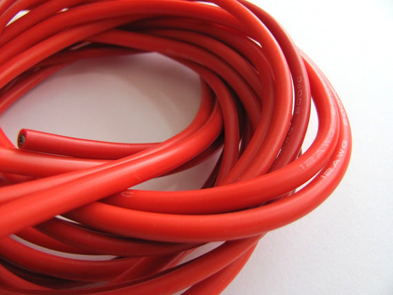 Silicon Wire - 12AWG (1 meter) RED