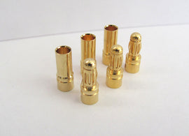 3.5mm Gold Bullet Connectors (3 Pairs)