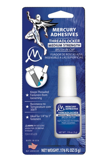 Mercury Adhesives Brush-in-Cap Threadlocker - Altitude Hobbies