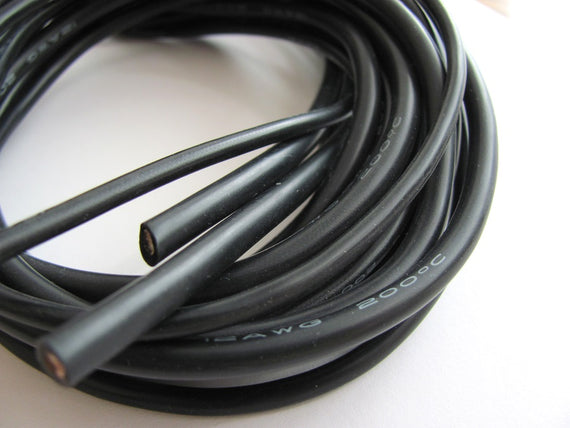 Silicon Wire - 24AWG (1 meter) BLACK