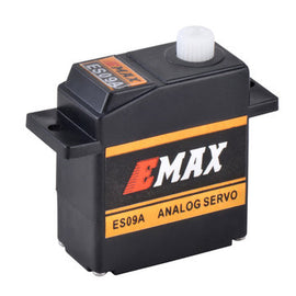 EMAX ES09A (dual-bearing) Swash Servo for 450 Heli (Analog Nylon Gear)