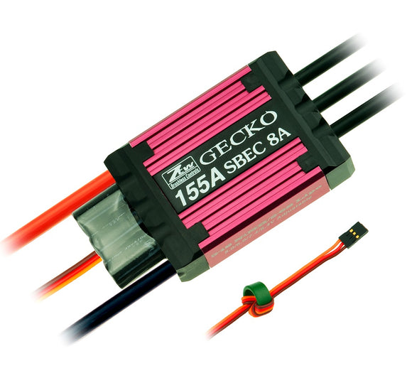ZTW Gecko Series 155A Brushless ESC w/ 8A Adjustable SBEC