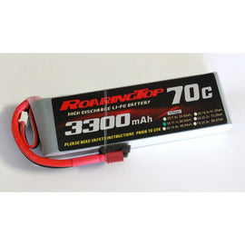 Roaring Top 3300mAh 3s (11.1v) 70C Lipo Battery - Altitude Hobbies