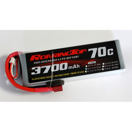 Roaring Top 3700mAh 3s (11.1v) 70C Lipo Battery - Altitude Hobbies