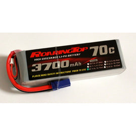 Roaring Top 3700mAh 4s (14.8v) 70C Lipo Battery - Altitude Hobbies