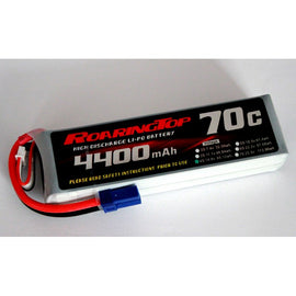 Roaring Top 4400mAh 4s (14.8v) 70C Lipo Battery - Altitude Hobbies