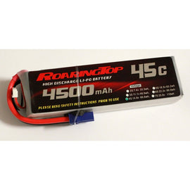 Roaring Top 4500mAh 4s (14.8v) 45C Lipo Battery - Altitude Hobbies