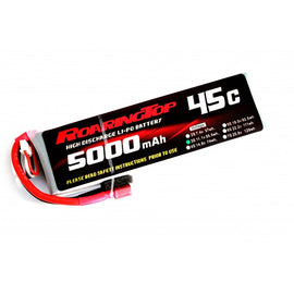 Roaring Top 5000mAh 3s (11.1v) 45C Lipo Battery - Altitude Hobbies