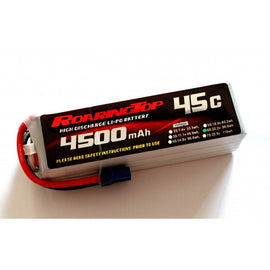 Roaring Top 4500mAh 6s (22.2v) 45C Lipo Battery - Altitude Hobbies