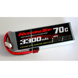 Roaring Top 3300mAh 5s (18.5v) 70C Lipo Battery - Altitude Hobbies