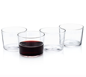 "Spanish ""Chatos"" Stemless Wine Drinking Glasses (Gift Box Set of 4)"