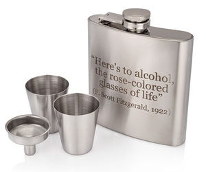 F. Scott Fitzgerald Flask