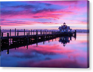 Roanoke Marshes Lighthouse - Canvas Print