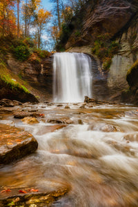 Looking Glass Falls - Metal Print