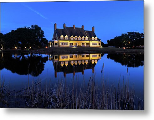 Blue Hour at the Whalehead - Metal Print