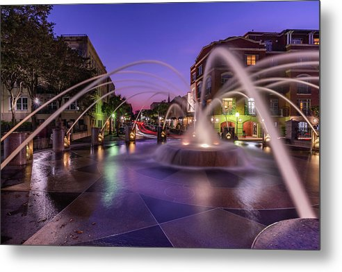 Sunset At Waterfront Park - Metal Print