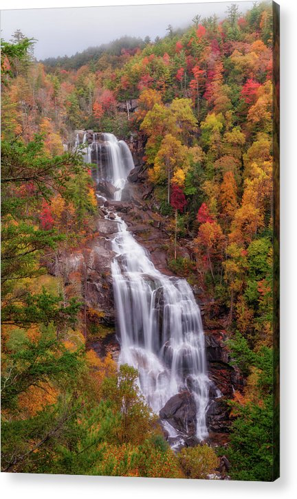 Upper Whitewater Falls - Acrylic Print