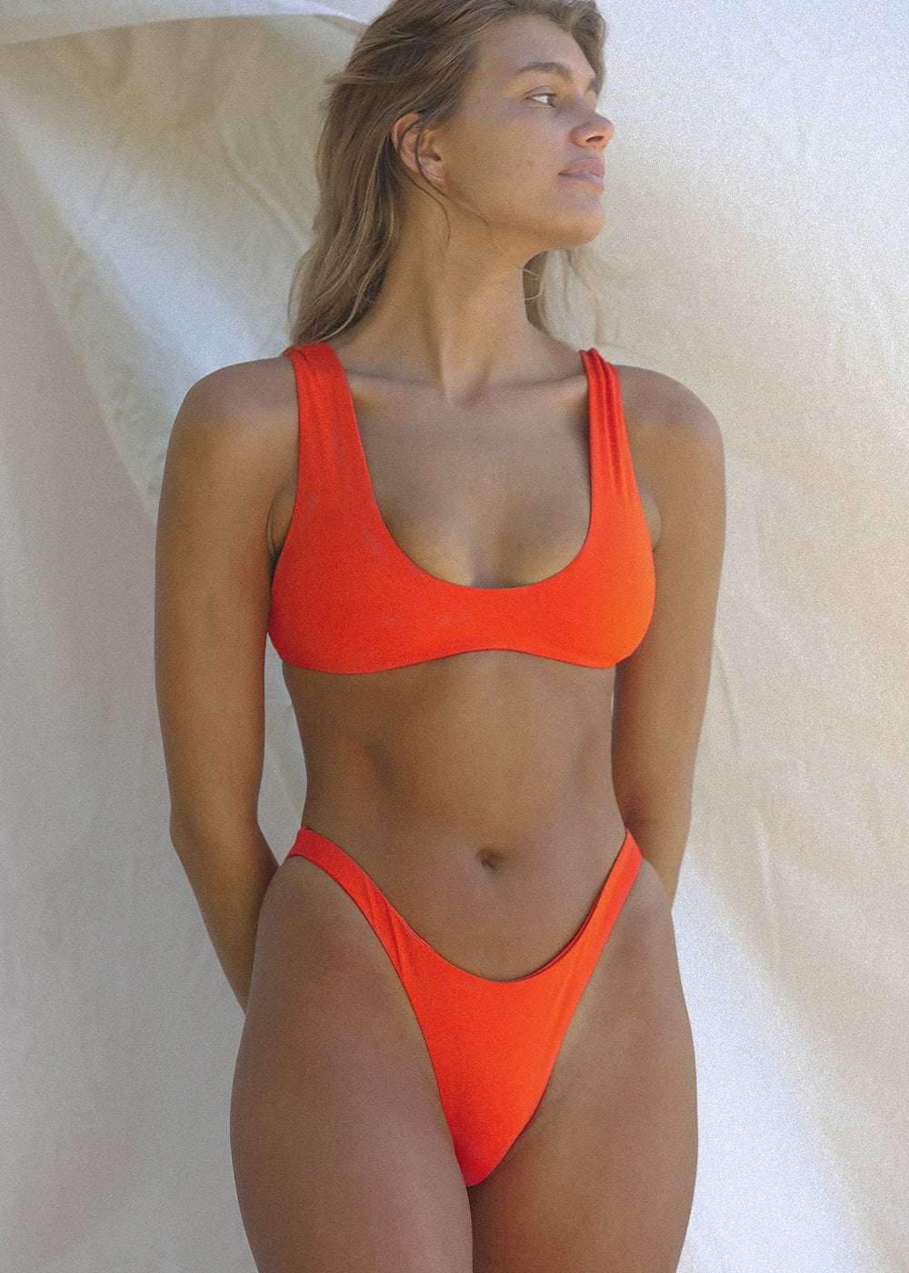 TOAST SWIM High Hip Bottom |Red Orange|