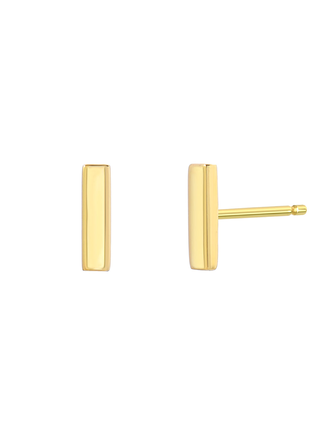 Zoe 14K Bar Earring in Yellow Gold