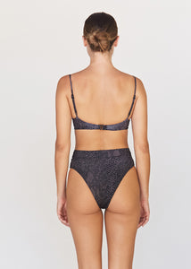 Acacia Swimwear Signature Double lining G-Land Bottom |Black Snake|