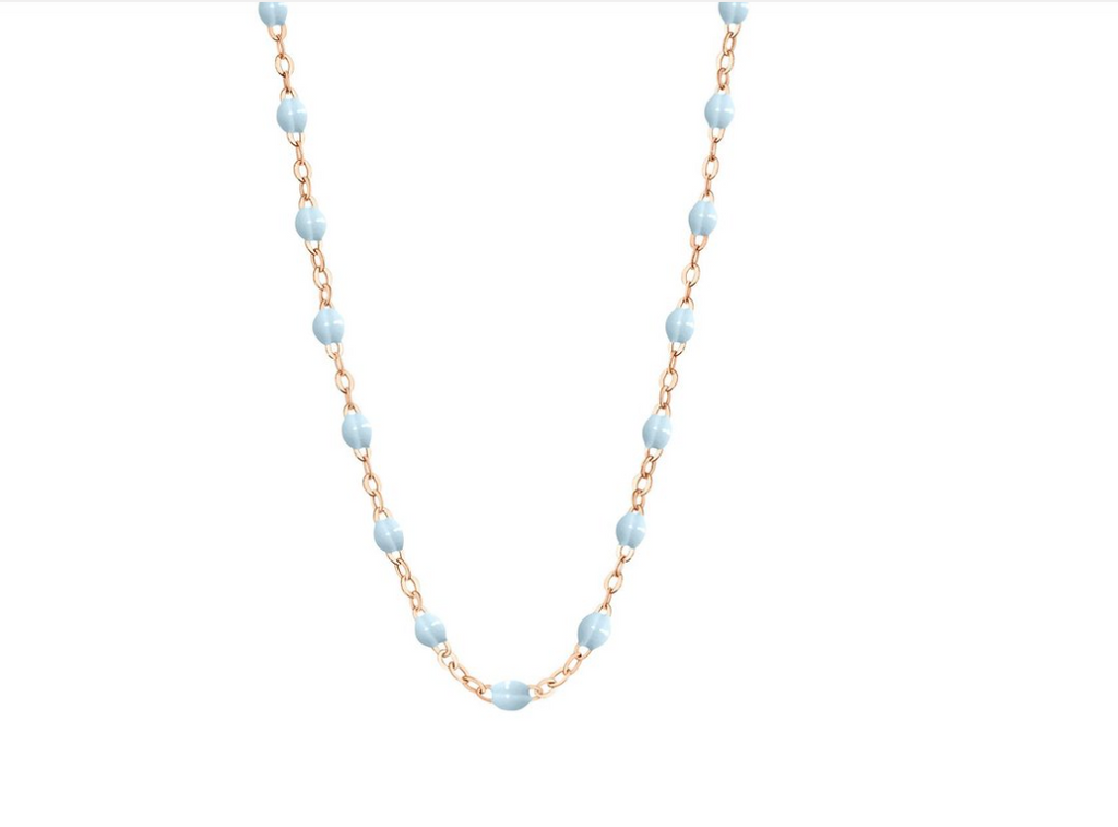 gigiCLOZEAU Jewlery - classic gigi necklace Baby Blue |18k gold|