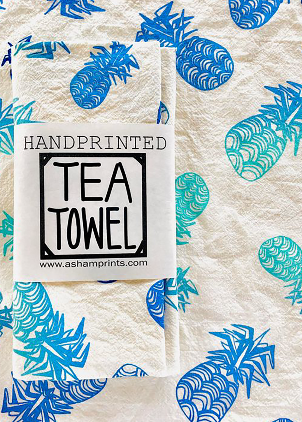 Hawaiian Tea Towels |Pineapple|