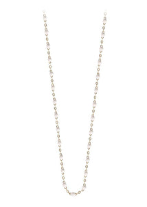 gigiCLOZEAU Jewlery -  18inch -classic gigi necklace White |18k gold|