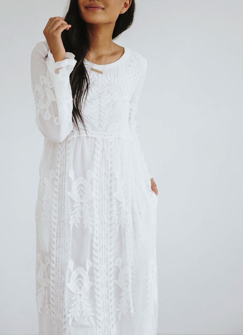 Aurora Long Lace Maxi