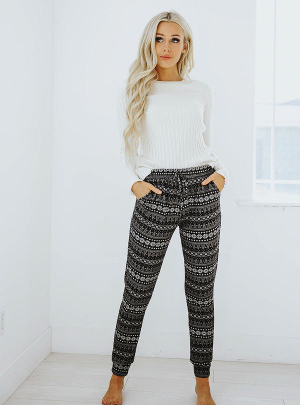 Frost Christmas Print Joggers
