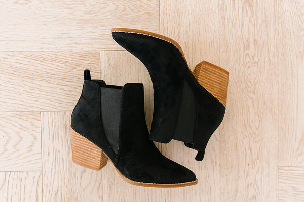 James Suede Bootie