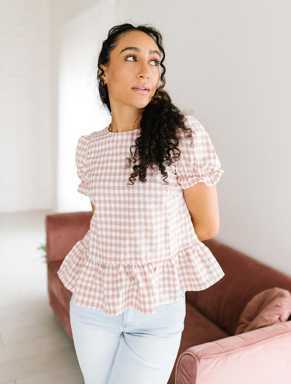 Kelli Gingham Top