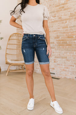 Kitts Distressed Bermuda Shorts
