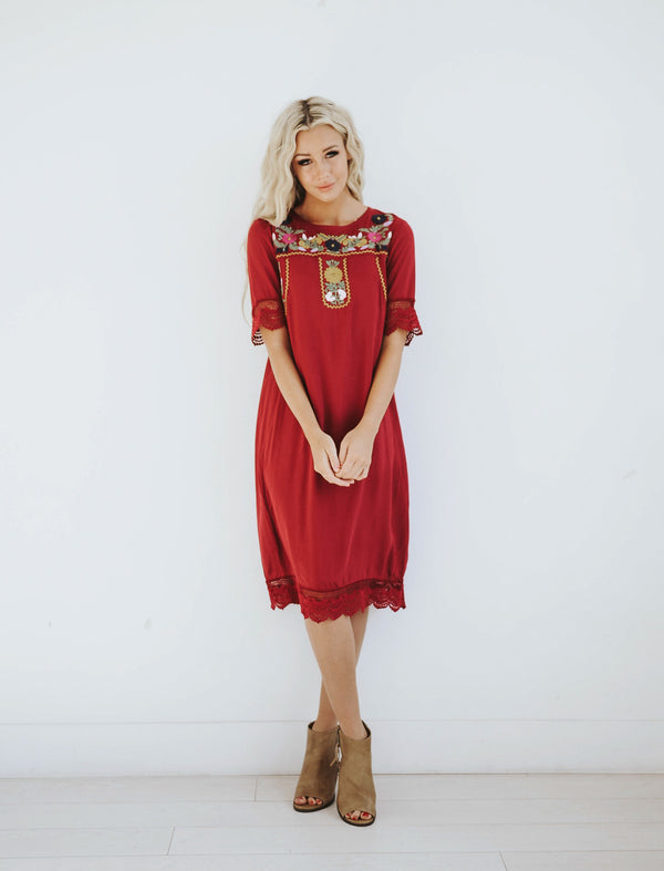 Phoebe Embroidery Dress