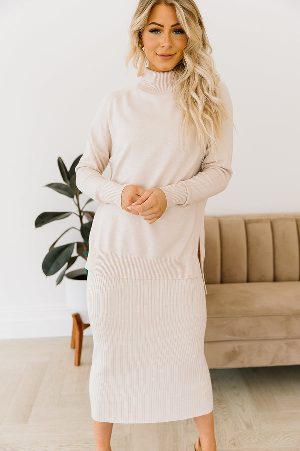 Rikki Ribbed Sweater Skirt