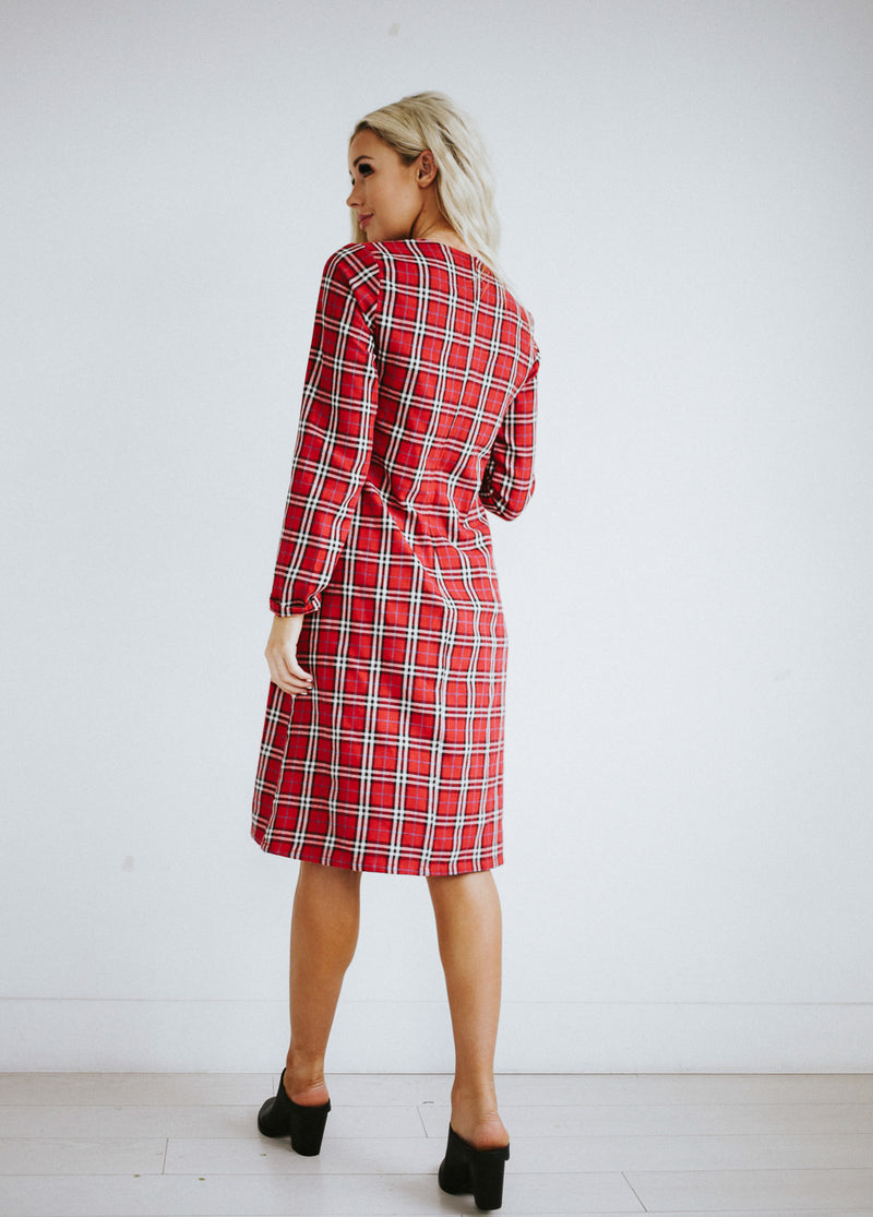 Chrissa Plaid Dress
