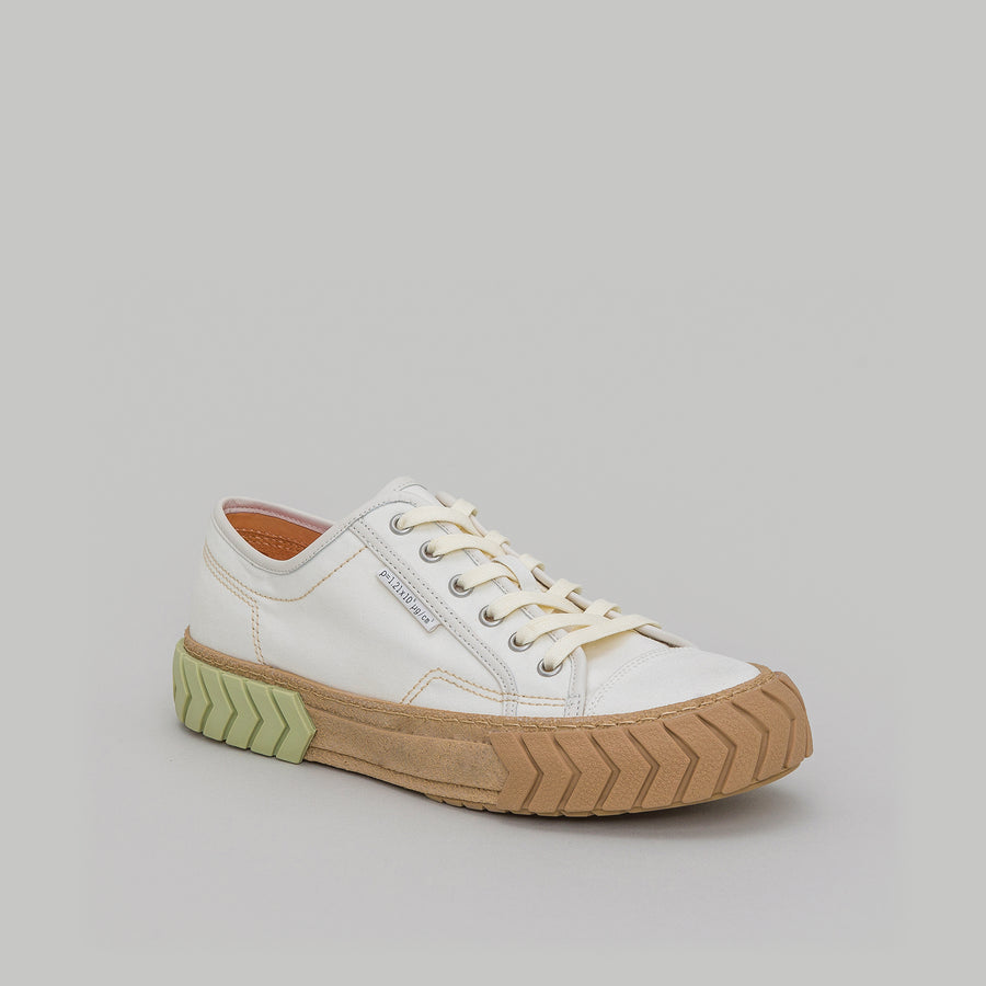 both - TYRES LOW TOP-WHITE/PISTACHIO