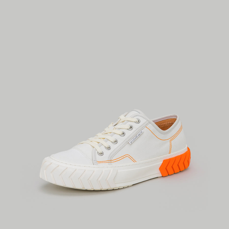 both - TYRES LOW TOP-WHITE/ORANGE