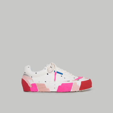 both - BROKEN-C LOW TOP-WHITE/MUTLI PINK