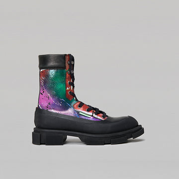 both - GAO HIGHT BOOTS-GRAFFITI PRINT/BLACK