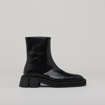 both - GANG ZIP BOOTS-BLACK