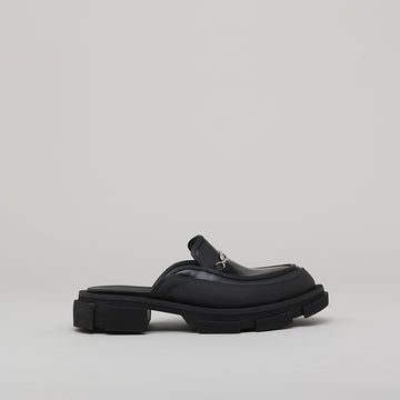 both - GAO LOAFER MULE-BLACK