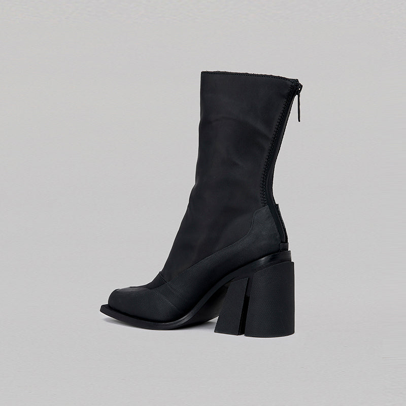 both - GAO HEEL HIGH ZIP-BLACK