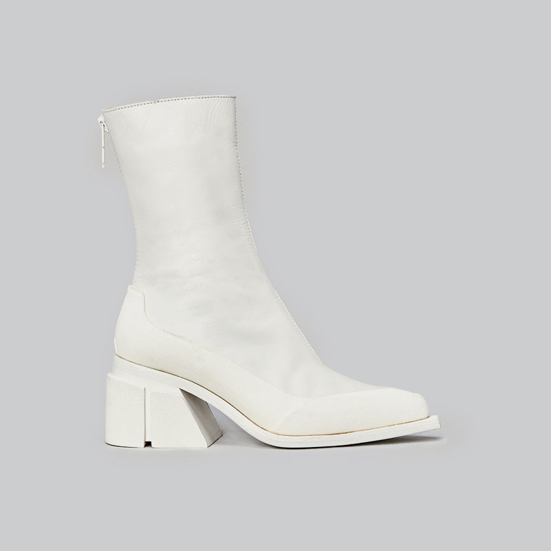 both - GAO HEEL LOW ZIP-WHITE/WHITE/GLOW