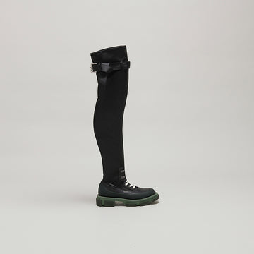 both X MONSE THIGH HIGH-ARMYGREEN/BLACK