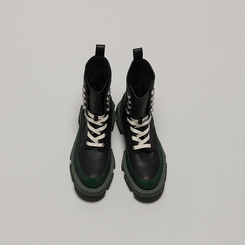 both X MONSE GAO HIGH BOOTS-ARMYGREEN/BLACK